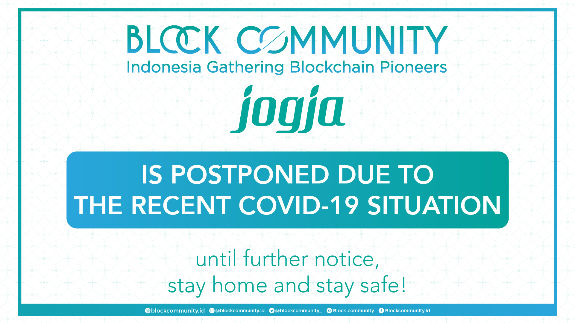 Block Community Jogja 2020 Postponement